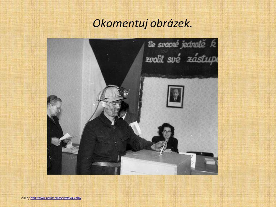 Okomentuj obrázek. Zdroj: http://www.ustrcr.cz/cs/vystava-volby