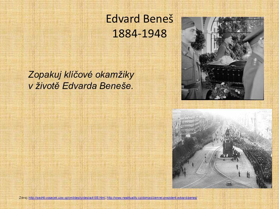Edvard Beneš 1884-1948 Zopakuj klíčové okamžiky