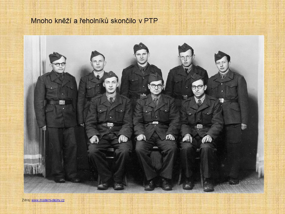 Mnoho kněží a řeholníků skončilo v PTP