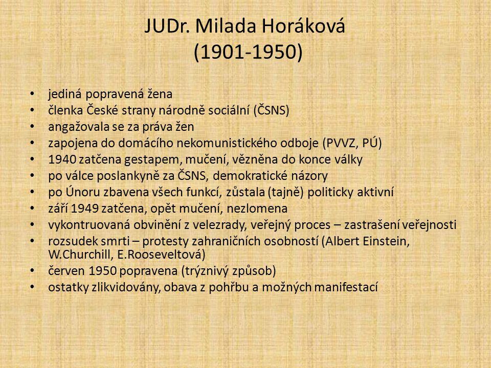 JUDr. Milada Horáková (1901-1950)