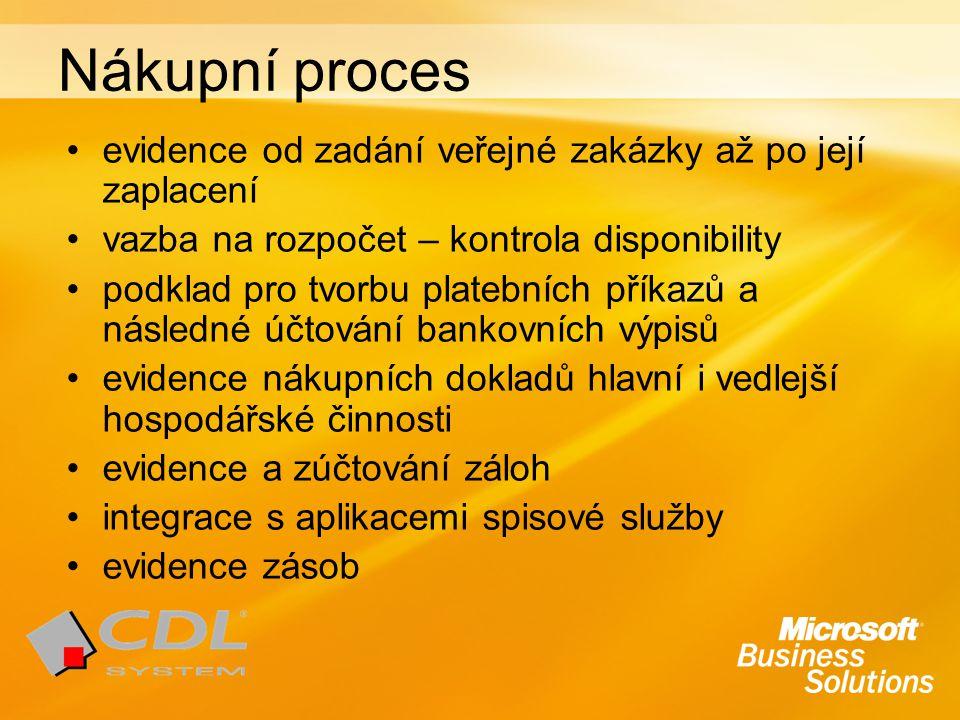 Nákupní proces evidence od zadání veřejné zakázky až po její zaplacení