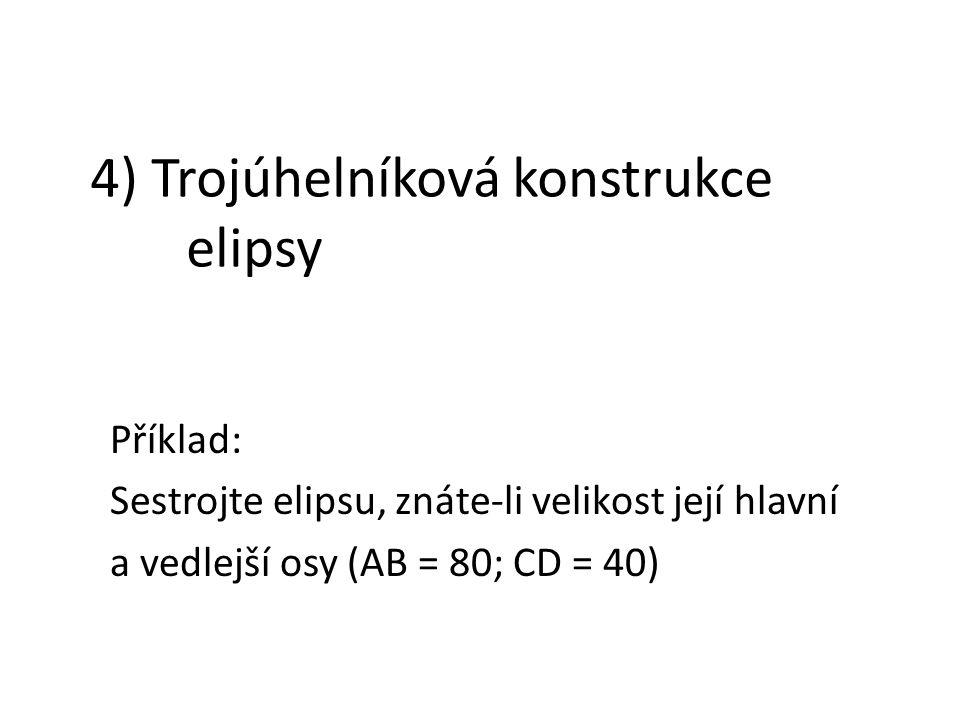 4) Trojúhelníková konstrukce elipsy