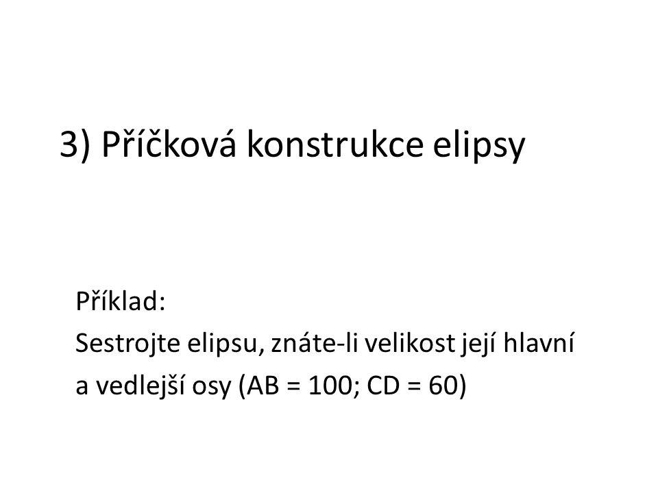3) Příčková konstrukce elipsy