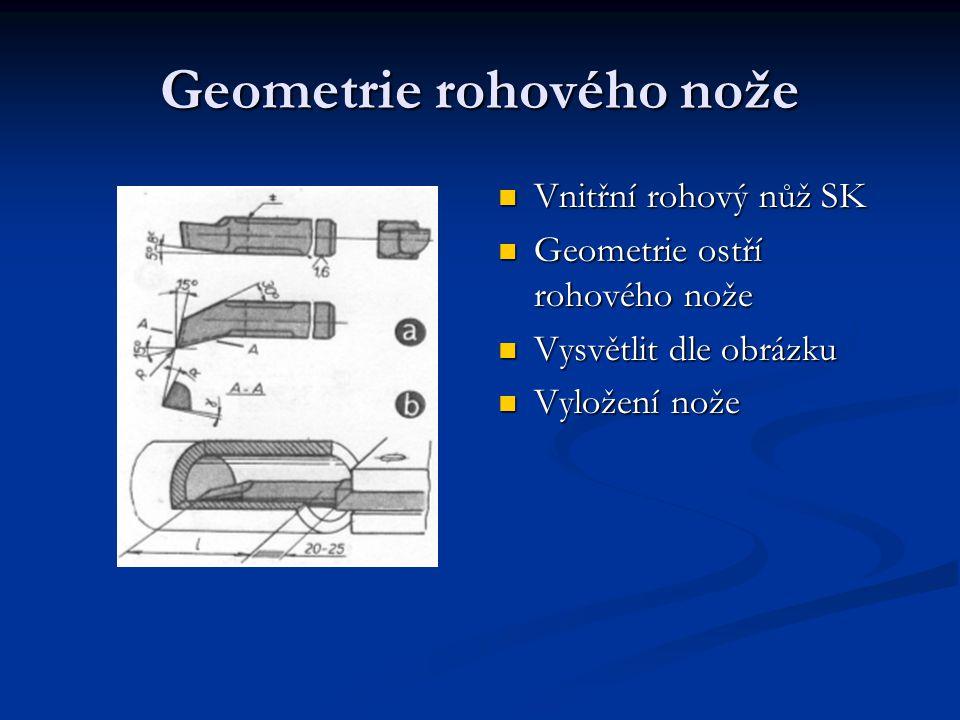 Geometrie rohového nože