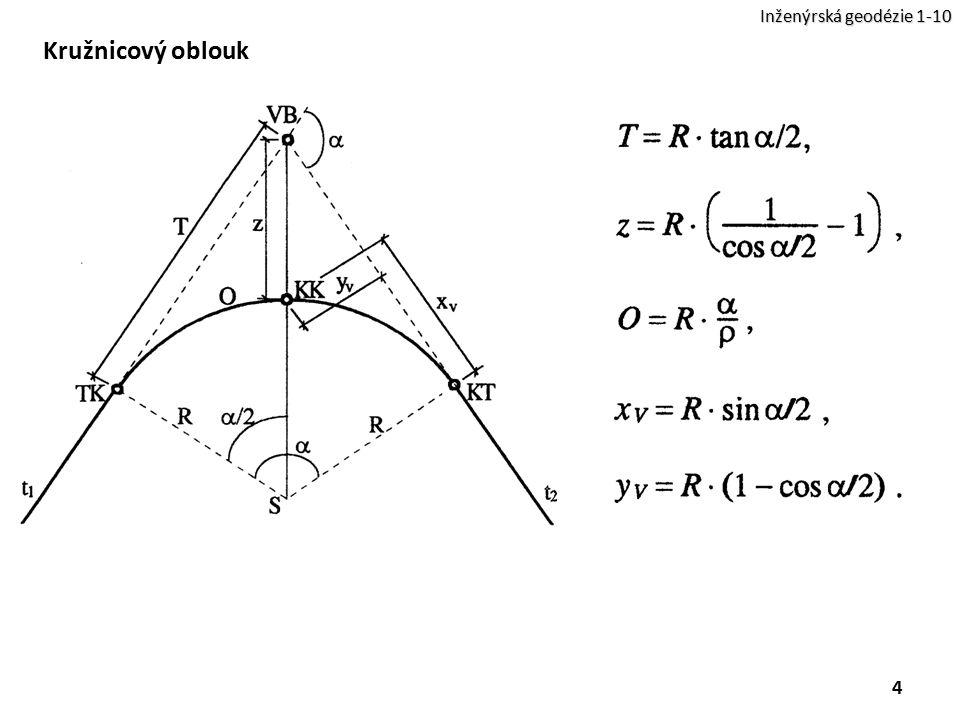 Inženýrská geodézie 1-10 Kružnicový oblouk