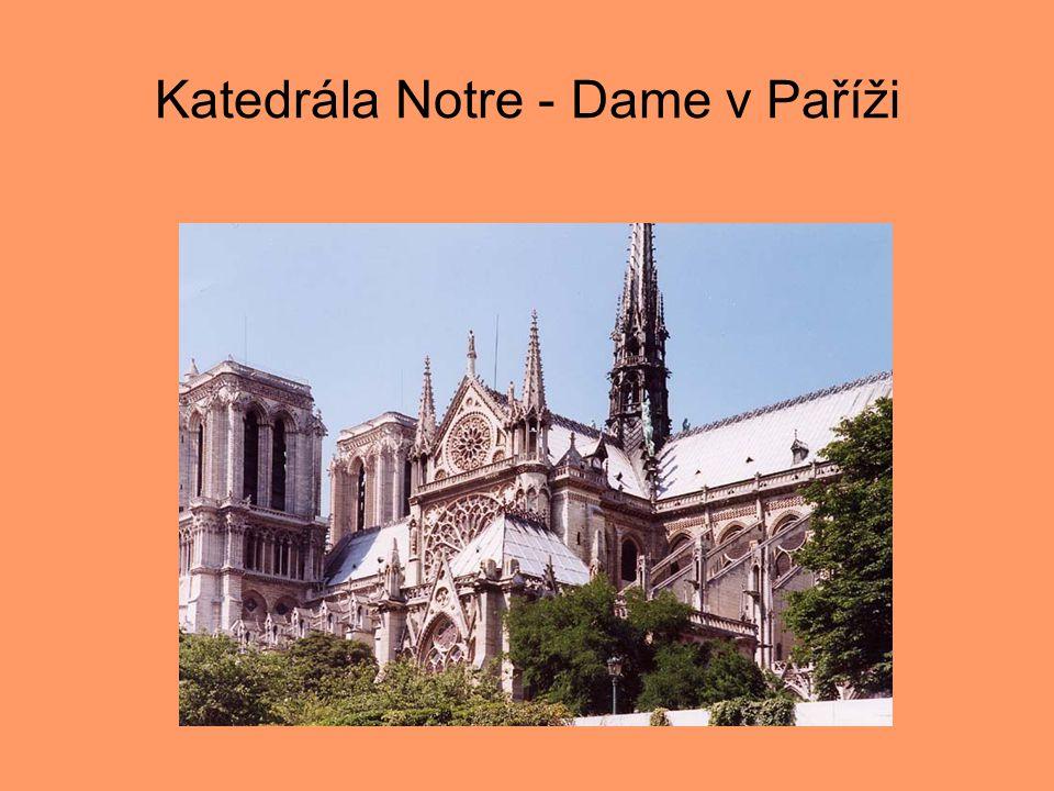 Katedrála Notre - Dame v Paříži