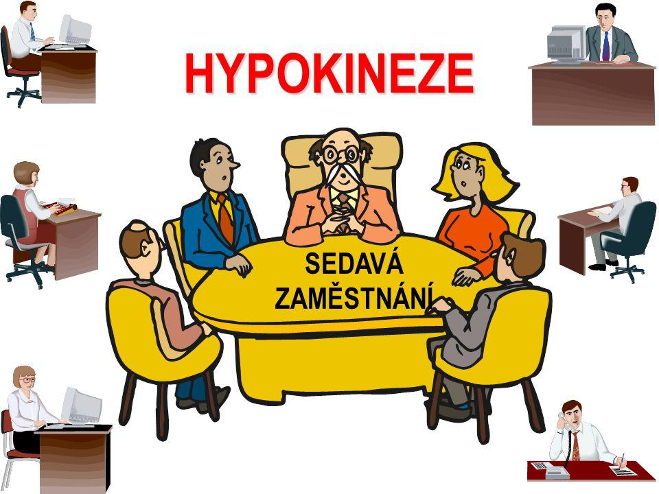 HYPOKINEZE SEDAVÁ ZAMĚSTNÁNÍ