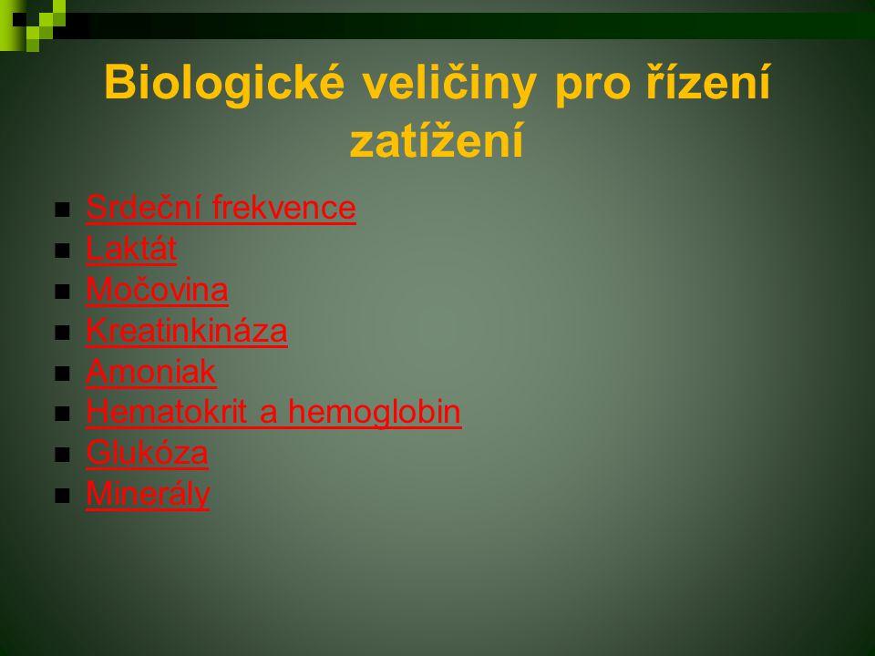 Biologické veličiny pro řízení zatížení