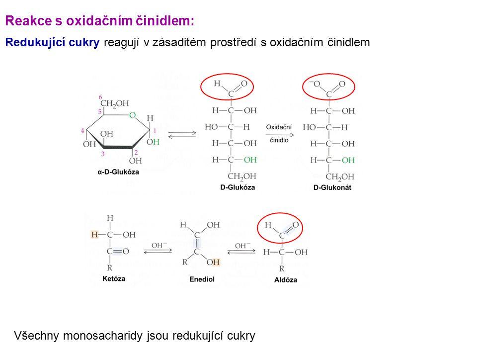 Reakce s oxidačním činidlem: