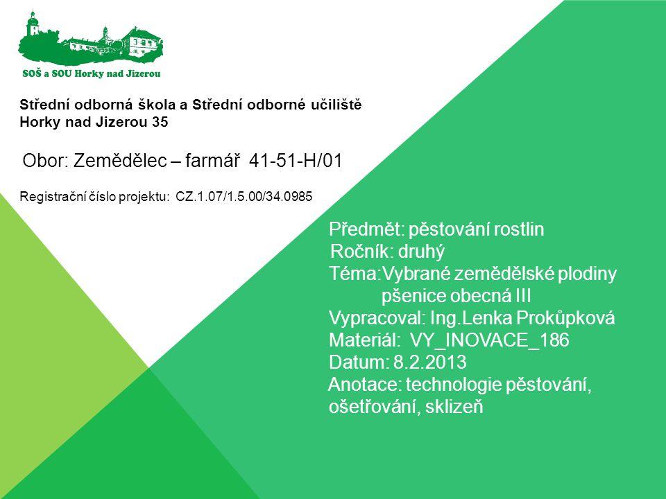 Obor: Zemědělec – farmář 41-51-H/01