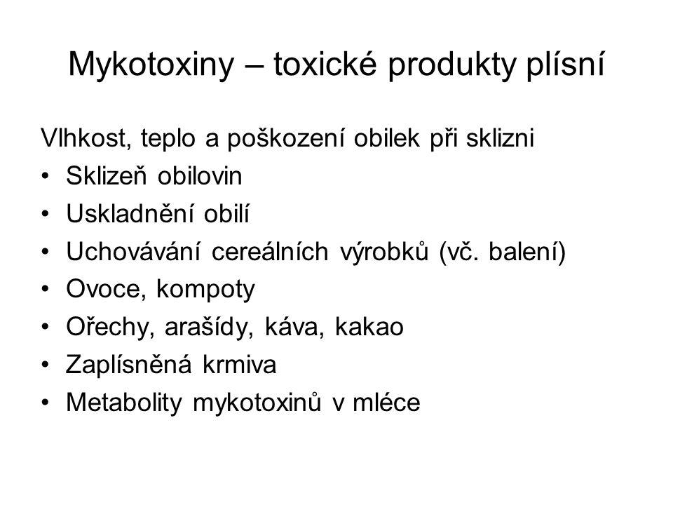 Mykotoxiny – toxické produkty plísní