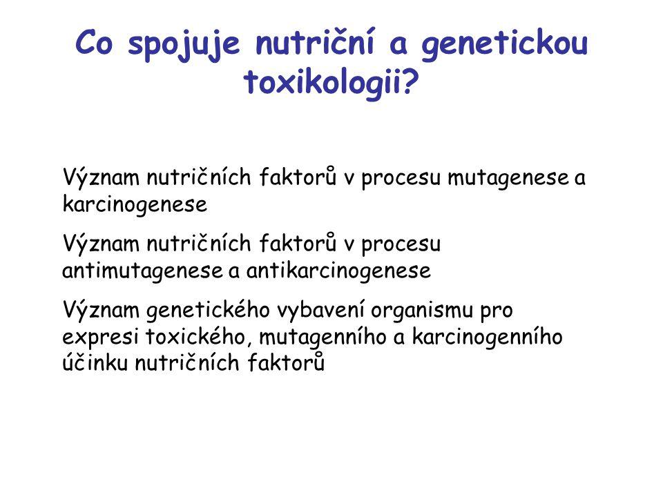 Co spojuje nutriční a genetickou toxikologii