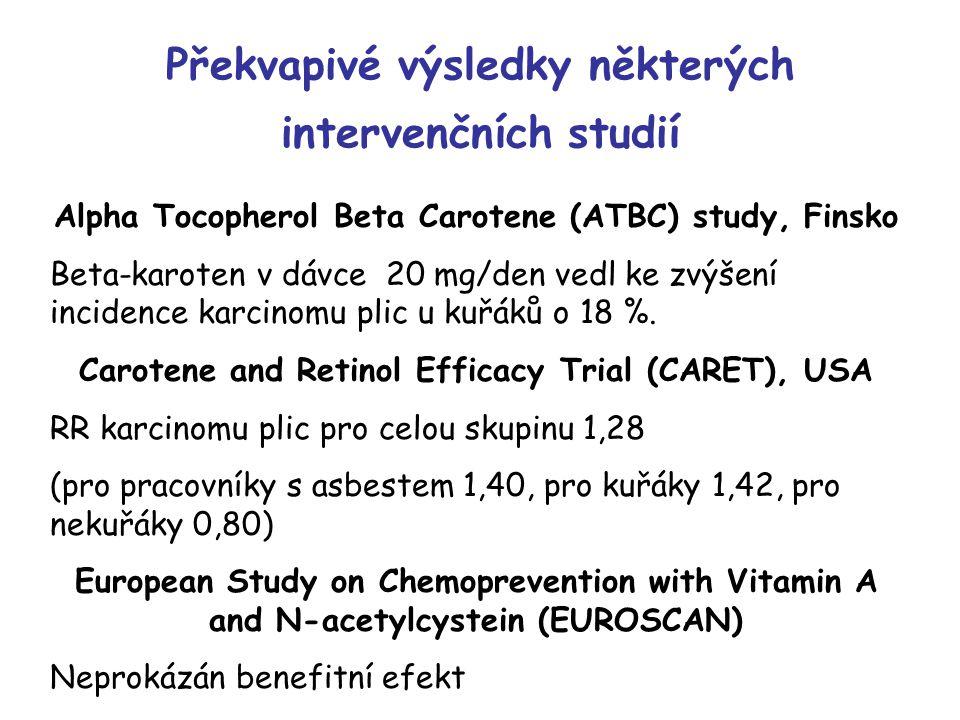 Překvapivé výsledky některých intervenčních studií