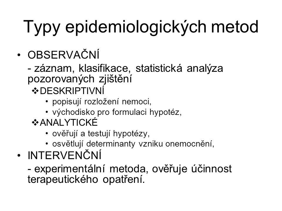 Typy epidemiologických metod