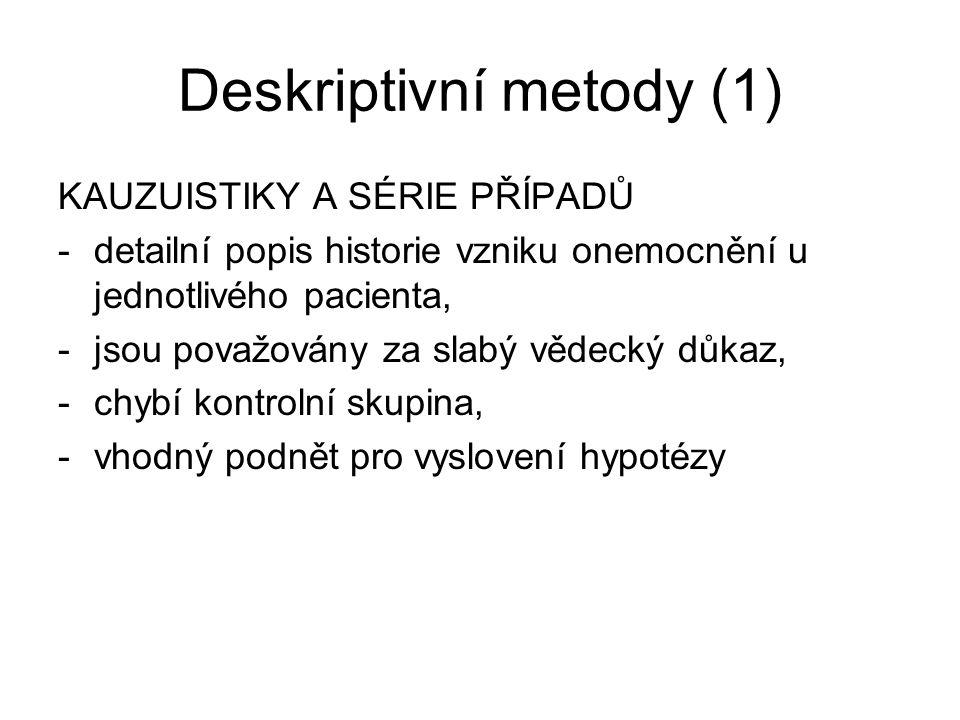 Deskriptivní metody (1)