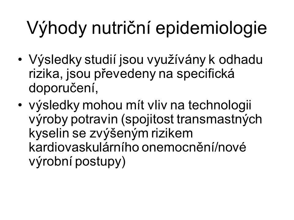 Výhody nutriční epidemiologie