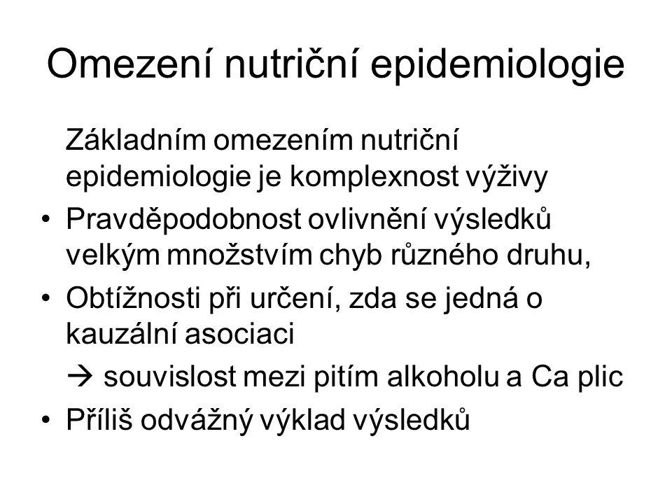 Omezení nutriční epidemiologie