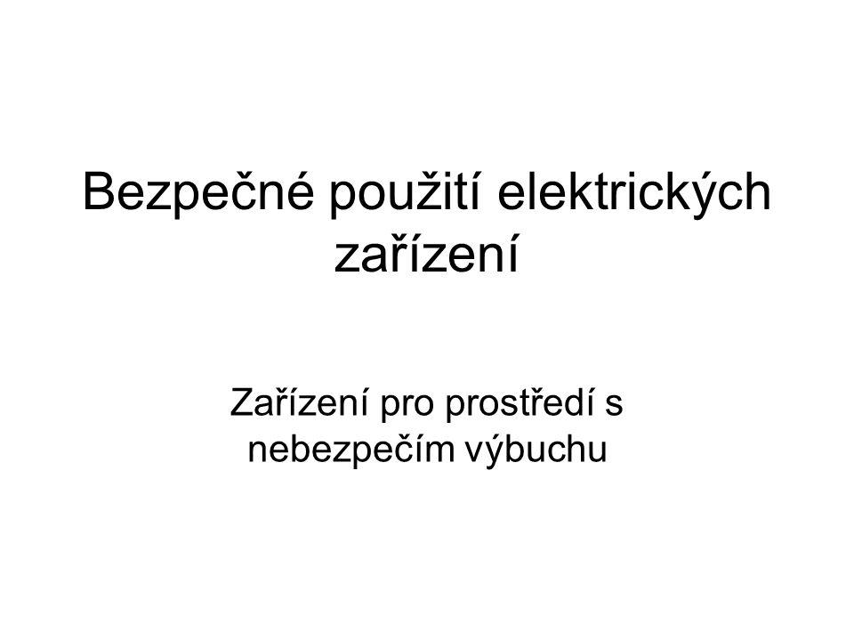 Bezpečné použití elektrických zařízení