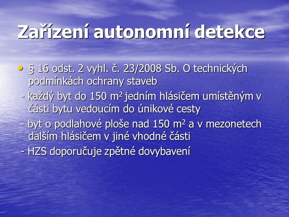 Zařízení autonomní detekce