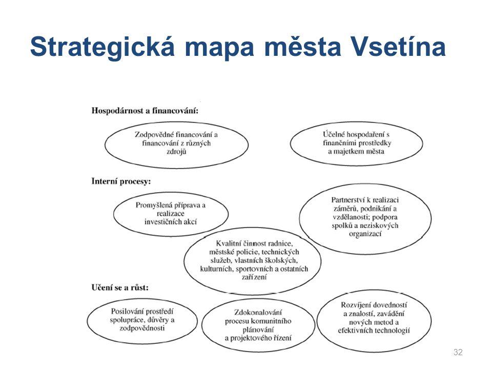 Strategická mapa města Vsetína
