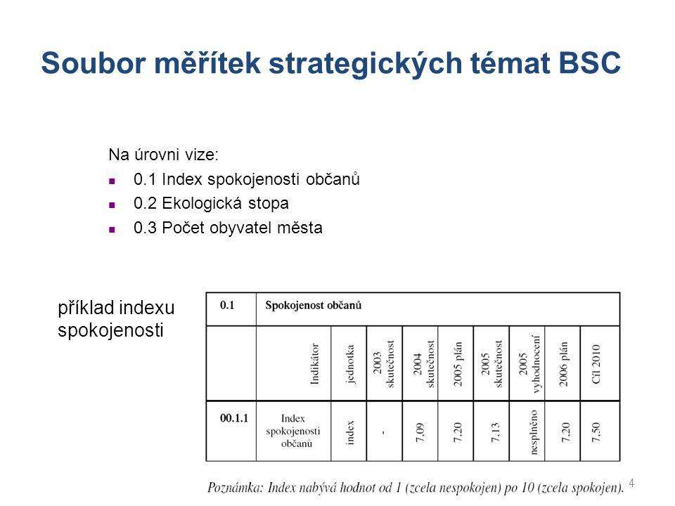 Soubor měřítek strategických témat BSC