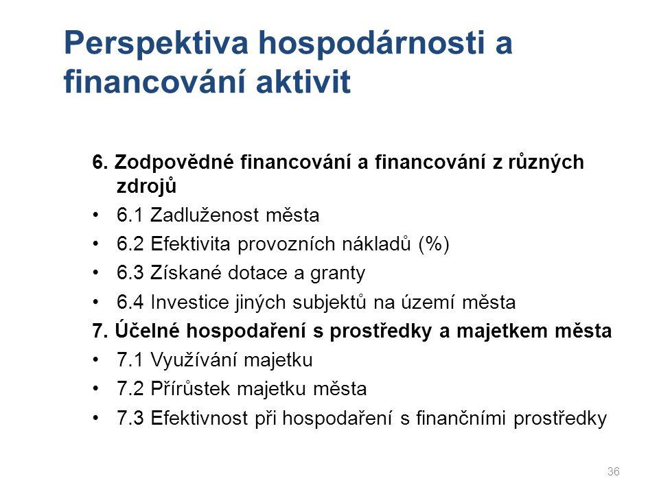 Perspektiva hospodárnosti a financování aktivit