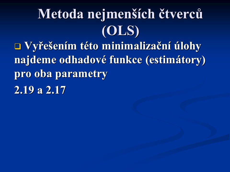 Metoda nejmenších čtverců (OLS)