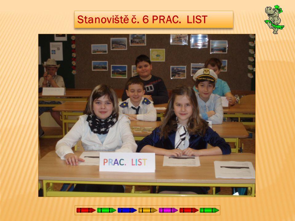 Stanoviště č. 6 PRAC. LIST