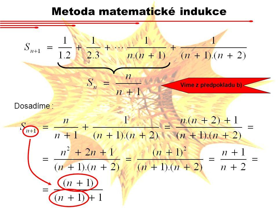 Metoda matematické indukce