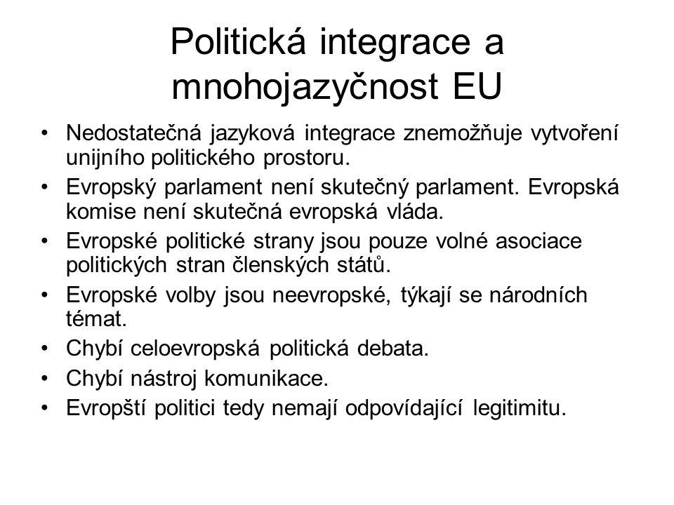 Politická integrace a mnohojazyčnost EU