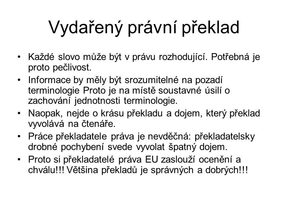 Vydařený právní překlad