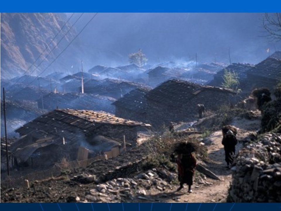 Smog v nepálské horské vesnici