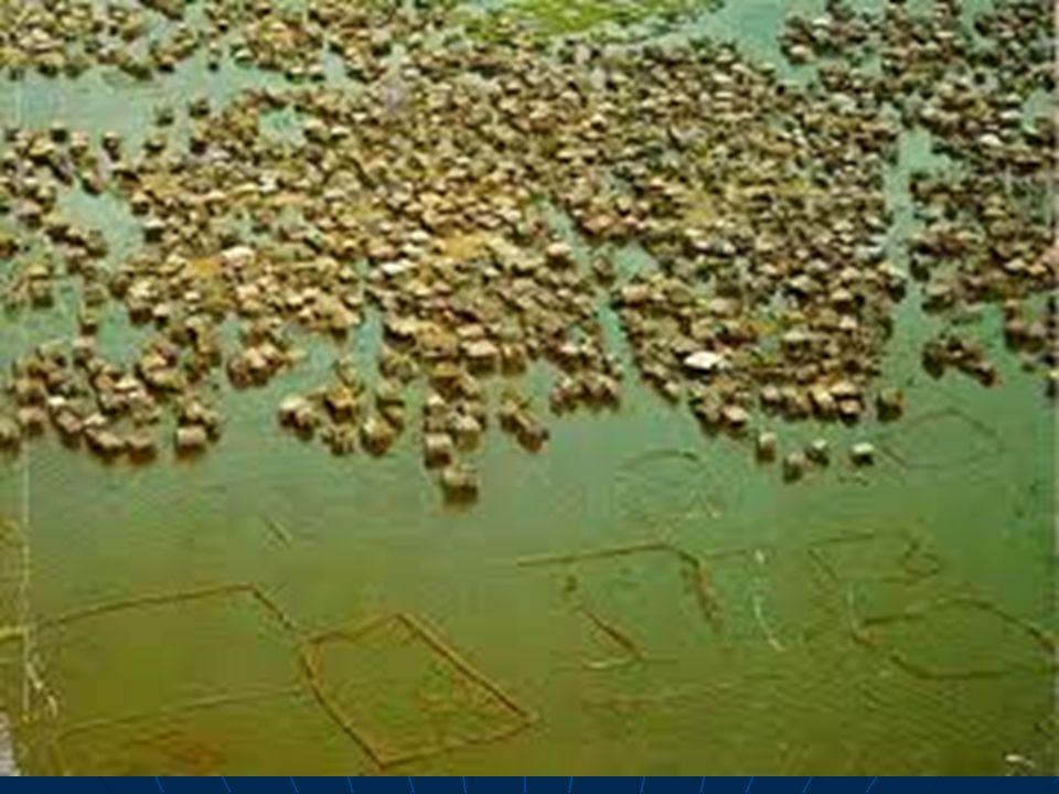 Největší kolové sídlo na světě Ganvié v Beninu (Afrika)