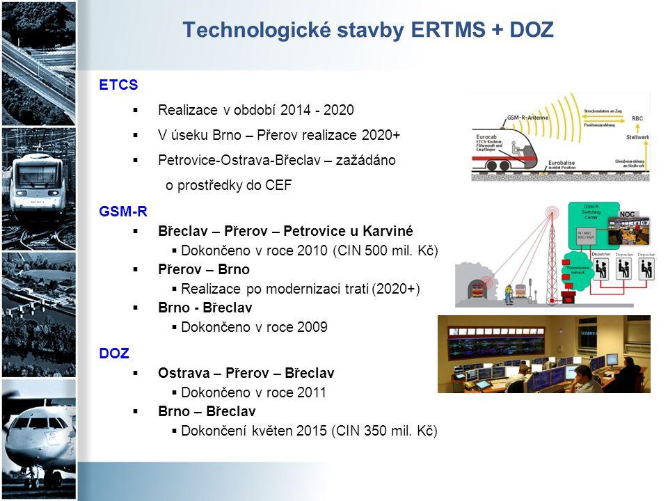 Technologické stavby ERTMS + DOZ