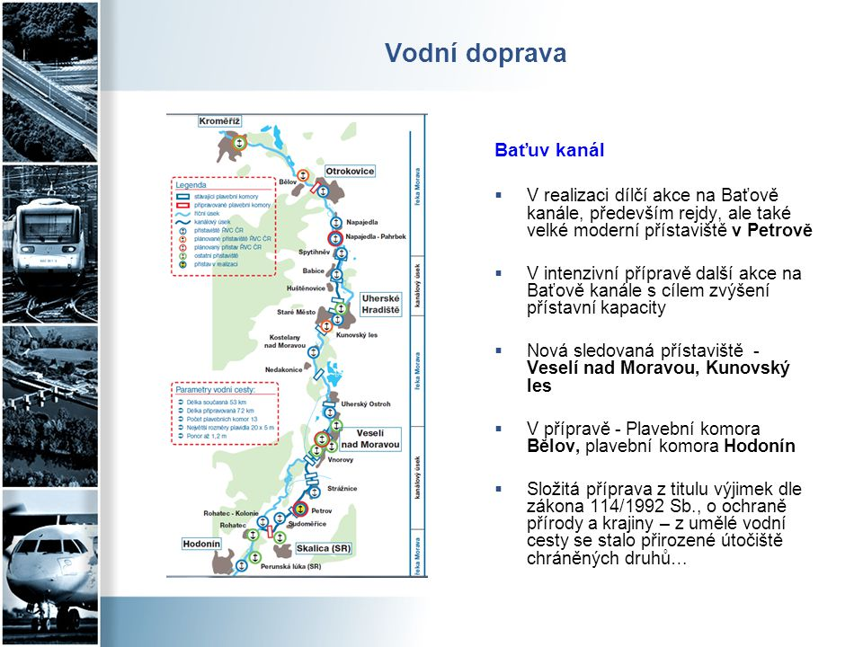 Vodní doprava Baťuv kanál