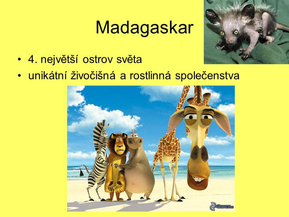 Madagaskar 4. největší ostrov světa