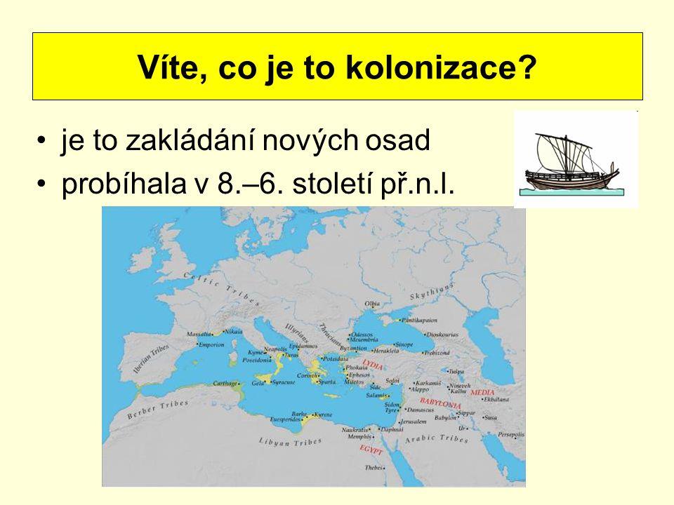 Víte, co je to kolonizace