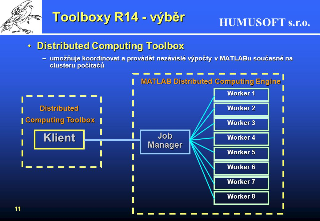 Toolboxy R14 - výběr Klient Distributed Computing Toolbox Job Manager
