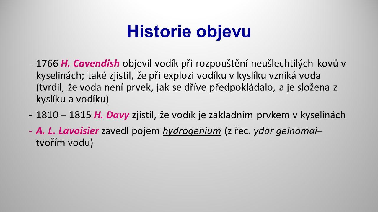Historie objevu