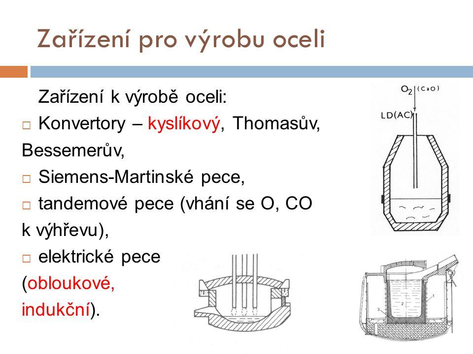 Zařízení pro výrobu oceli