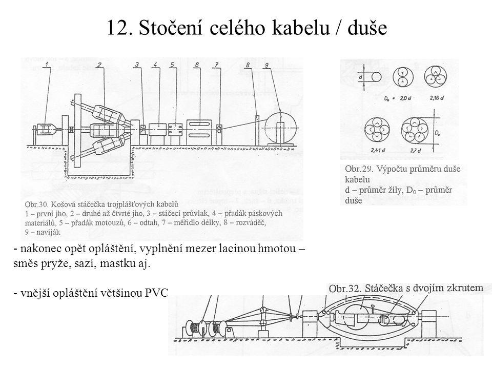 12. Stočení celého kabelu / duše