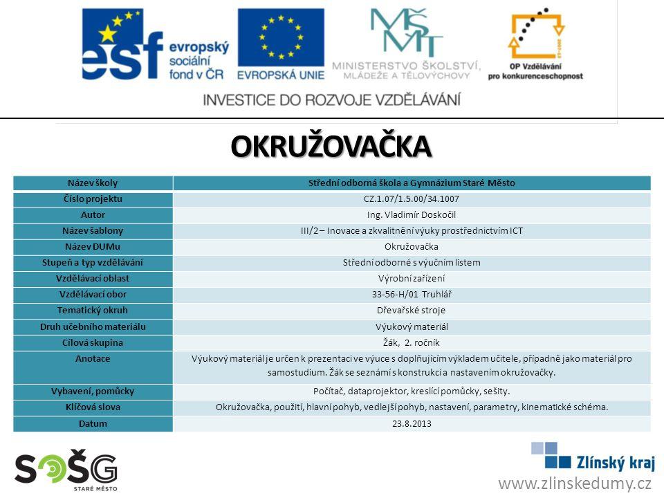 okružovačka www.zlinskedumy.cz Název školy