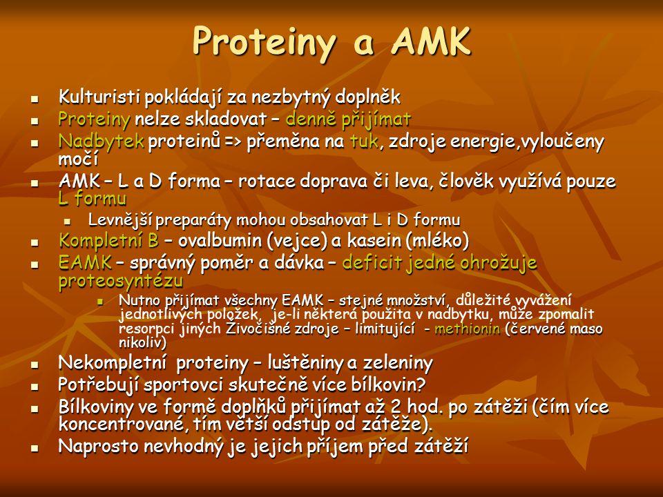 Proteiny a AMK Kulturisti pokládají za nezbytný doplněk