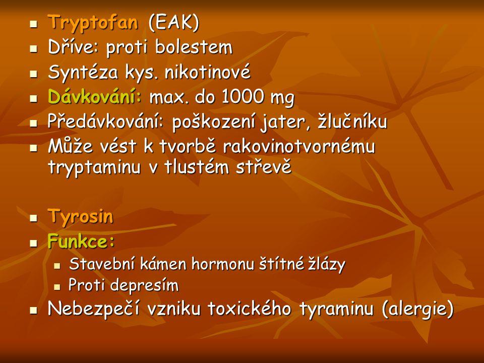 Syntéza kys. nikotinové Dávkování: max. do 1000 mg