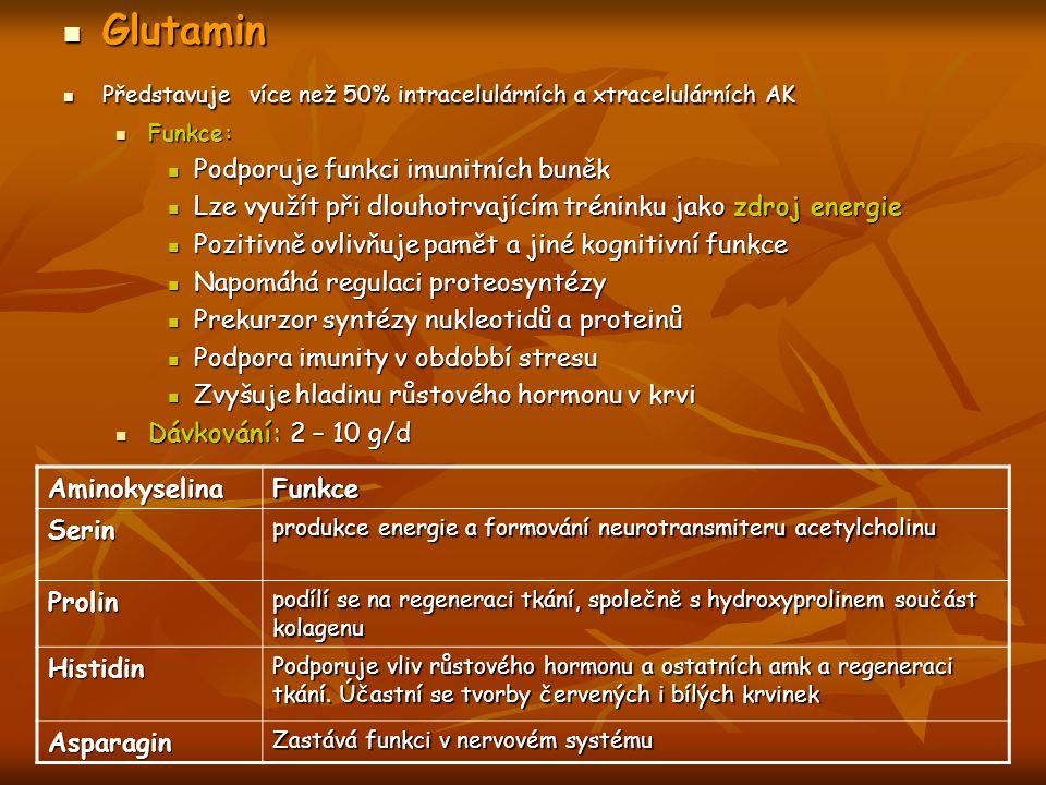 Glutamin Podporuje funkci imunitních buněk
