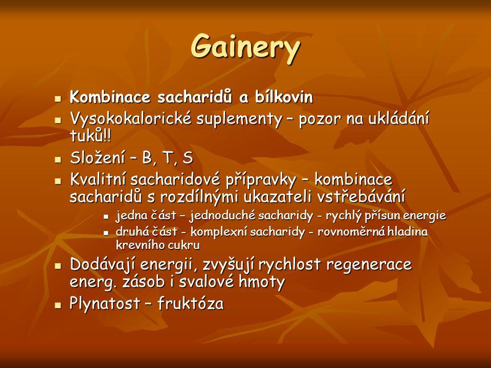 Gainery Kombinace sacharidů a bílkovin