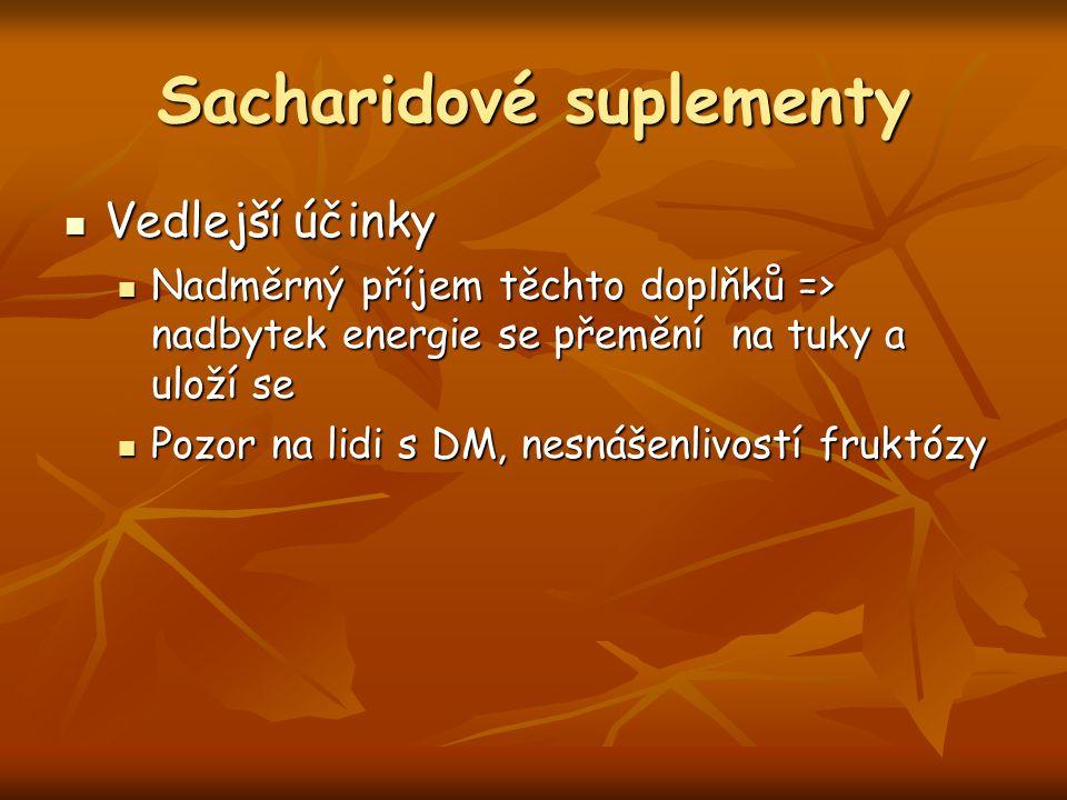 Sacharidové suplementy