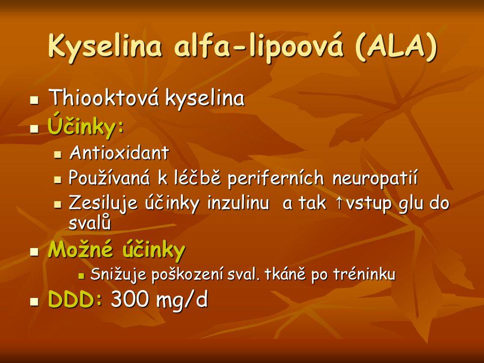 Kyselina alfa-lipoová (ALA)