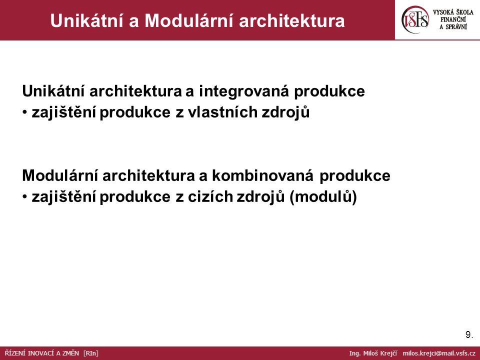 Unikátní a Modulární architektura