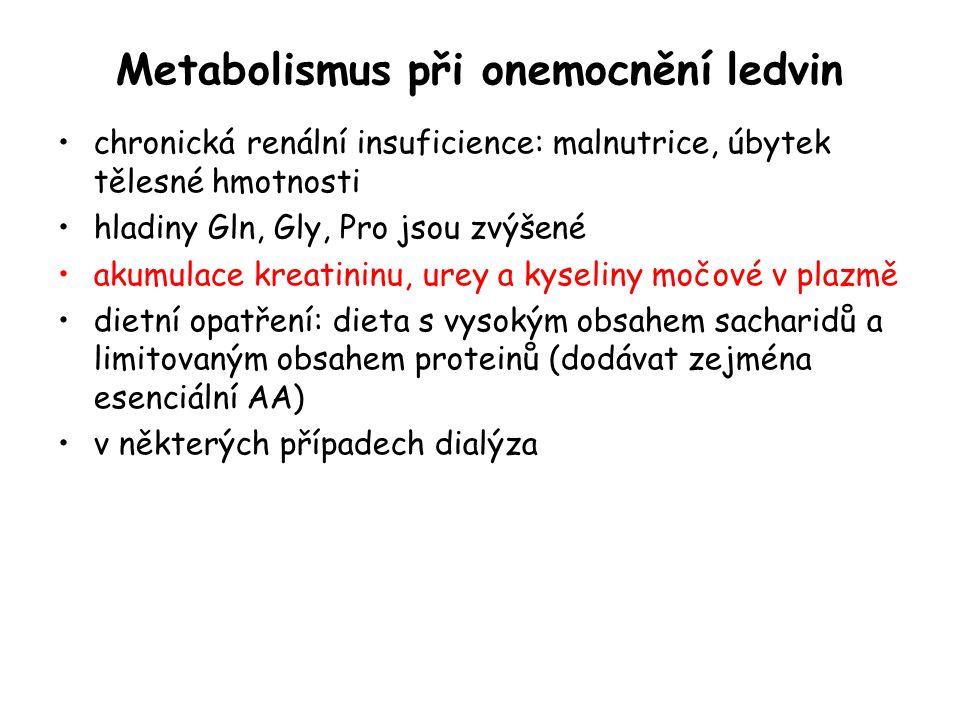 Metabolismus při onemocnění ledvin
